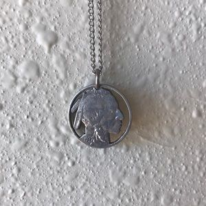 Jewelry - Rare! Old Indian head nickel. Cut out.